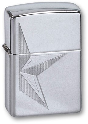 Широкая зажигалка Zippo HALF STAR 250 - фото 6277