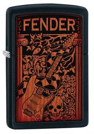 Широкая зажигалка Zippo Fender 28733 - фото 6373