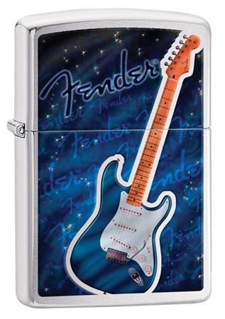 Широкая зажигалка Zippo Fender 29128 - фото 6381