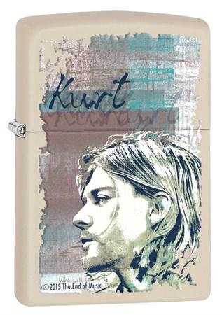 Широкая зажигалка Zippo Kurt Cobain 29051 - фото 6412
