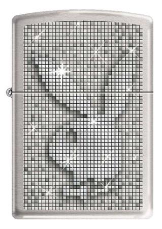 Широкая зажигалка Zippo PLAYBOY SPARKLE 200 - фото 6459