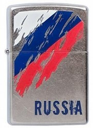 Зажигалка Zippo Street Chrome 207 Russian Flag - фото 6473
