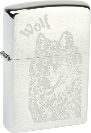 Широкая зажигалка Zippo Wolf 200 - фото 6518