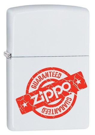 Широкая зажигалка Zippo Zippo Guaranteed 29547 - фото 6535