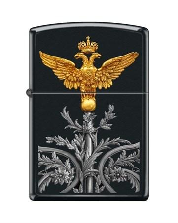 Широкая зажигалка Zippo RUSSIAN COAT OF ARMS 218 - фото 6542