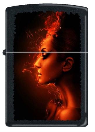 Зажигалка Zippo BURNING WOMAN 218 - фото 6545