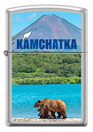 Широкая зажигалка Zippo KAMCHATKA 205 - фото 6553