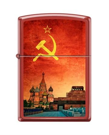 Широкая зажигалка Zippo SOVIET DESIGN 233 - фото 6554