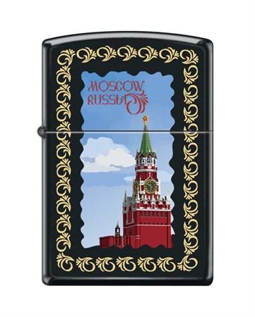 Широкая зажигалка Zippo MOSCOW KREMLIN FRAMED 218 - фото 6556