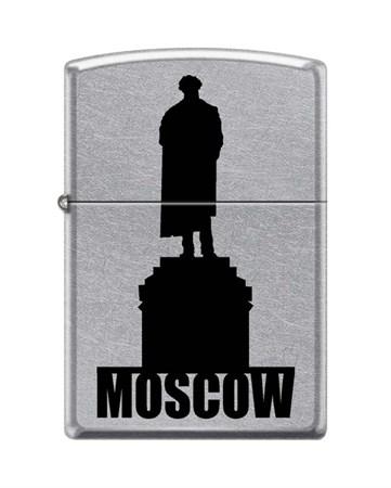 Широкая зажигалка Zippo MOSCOW SILHOUETTE 207 - фото 6563