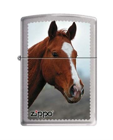 Широкая зажигалка Zippo HORSE HEAD 200 - фото 6574