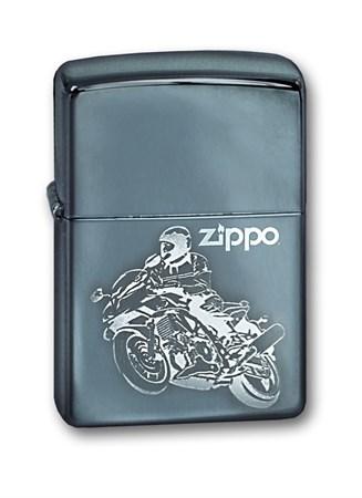 Широкая зажигалка Zippo Moto 150 - фото 6576