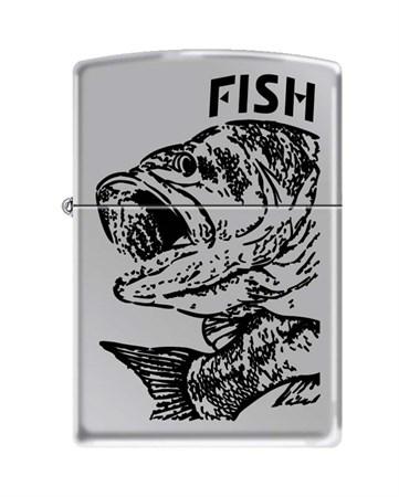 Широкая зажигалка Zippo FISH - BIG MOUTH 250 - фото 6584