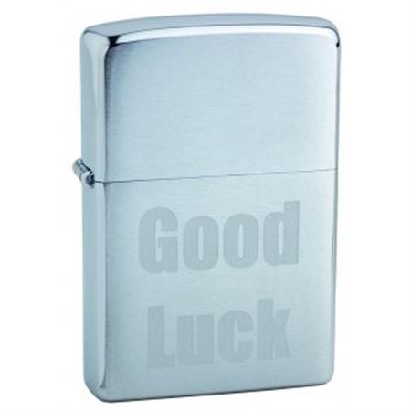 Широкая зажигалка Zippo Good Luck 200 - фото 6755