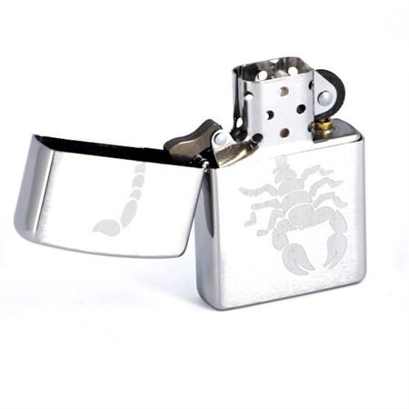Широкая зажигалка Zippo Scorpion 200 - фото 6791