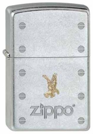 Зажигалка Zippo Rivets&Eagle 207 - фото 6854