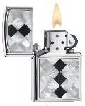 Зажигалка широкая Zippo Black Diamonds 20480 - фото 6900
