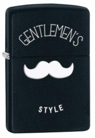 Широкая зажигалка Zippo Gentlemen's Style 28663 - фото 6913