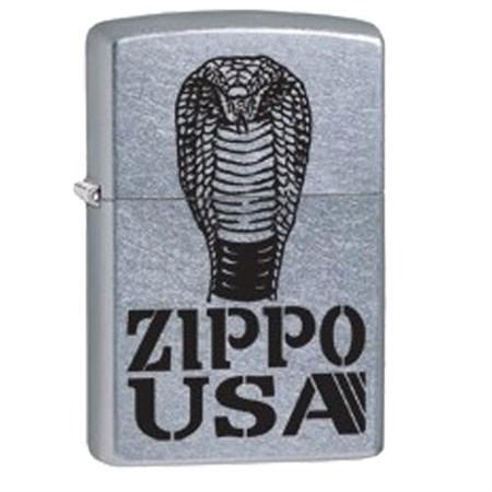Широкая зажигалка Zippo Cobra 28776 - фото 7069