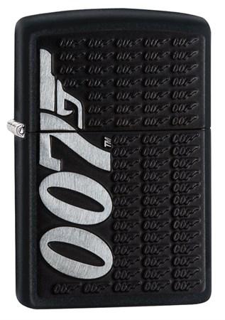 Зажигалка Zippo James Bond с покрытием Black Matte, 29718 - фото 7439