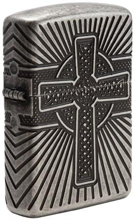 Зажигалка Zippo Armor® с покрытием Antique Silver, 29667 - фото 7464