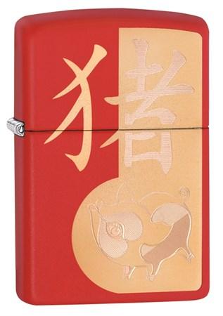Зажигалка Zippo Classic с покрытием Red Matte, 29661 - фото 7513