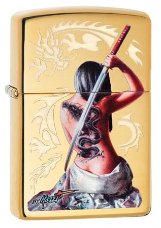 Зажигалка Zippo Mazzi® с покрытием High Polish Brass, 29668 - фото 7519