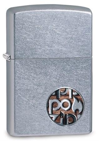 Зажигалка Zippo Button с покрытием Street Chrome™, 29872 - фото 7553