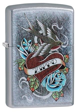 Зажигалка Zippo Vintage Tattoo с покрытием Street Chrome™, 29874 - фото 7571
