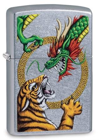 Зажигалка Zippo Dragon Design с покрытием Street Chrome™, 29837 - фото 7591