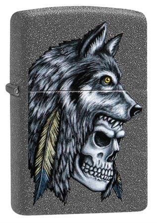 Зажигалка Zippo Wolf Skull с покрытием Iron Stone™, 29863 - фото 7623
