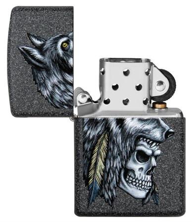 Зажигалка Zippo Wolf Skull с покрытием Iron Stone™, 29863 - фото 7625
