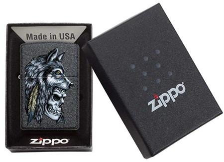 Зажигалка Zippo Wolf Skull с покрытием Iron Stone™, 29863 - фото 7628
