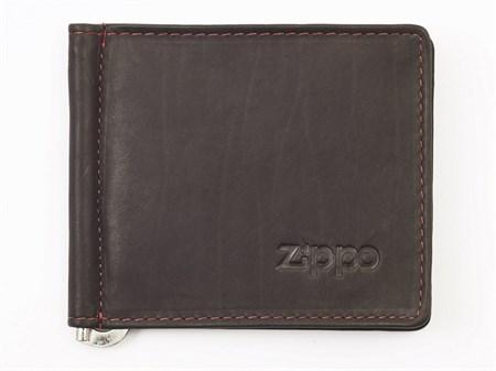 Портмоне двойное с зажимом для денег Zippo, кожанное, 2005125 - фото 7760