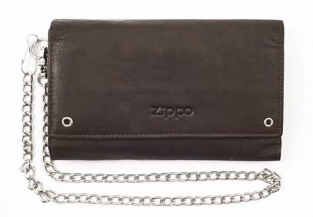 Бумажник байкера Zippo, кожаный, 2005129 - фото 7782