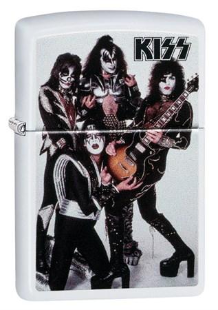 Зажигалка Zippo KISS® с покрытием White Matte 49017 - фото 7986