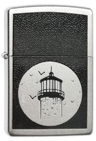 Широкая зажигалка Zippo Lighthouse 205 - фото 8130