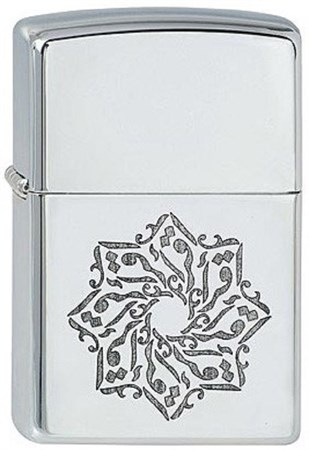 Широкая зажигалка Zippo Arabic Style 4 252 - фото 8171