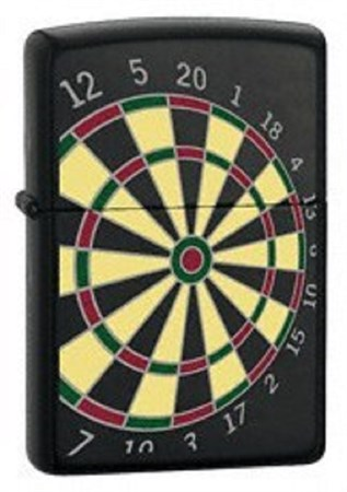 Широкая зажигалка Zippo Dart Board 24332 - фото 8184