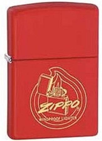 Широкая зажигалка Zippo Flame 28720 - фото 8195