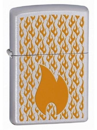Широкая зажигалка Zippo Flames 24919 - фото 8196