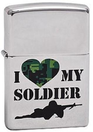 Широкая зажигалка Zippo My Soldier 285 - фото 8219