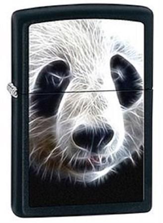 Широкая зажигалка Zippo Panda 28358 - фото 8222