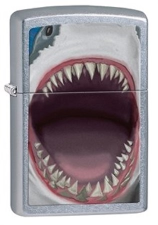 Широкая зажигалка Zippo Shark Teeth 28463 - фото 8233
