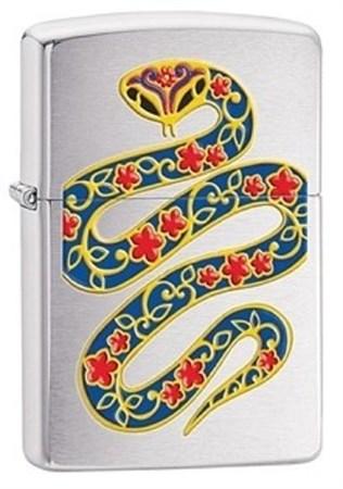 Широкая зажигалка Zippo Snake 28456 - фото 8235