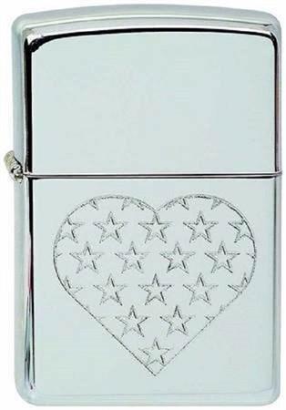 Широкая зажигалка Zippo Star Heart 297 - фото 8239