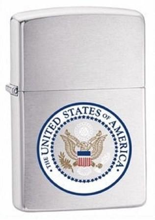 Широкая зажигалка Zippo US Seal 24347 - фото 8245