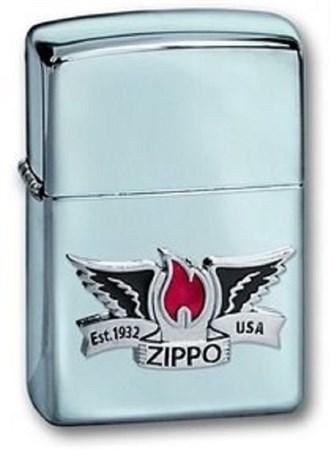 Широкая зажигалка Zippo Wings 24092 - фото 8248