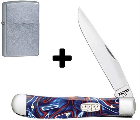Нож перочинный Zippo Patriotic Kirinite Smooth Trapper 105 мм 50511 - фото 8318