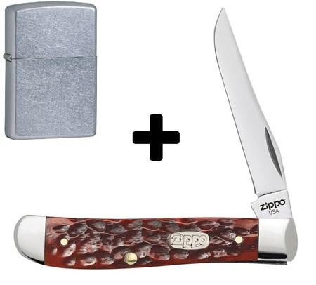 Нож перочинный Zippo Chestnut Bone Standard Jigged Mini Trapper 89 мм 50568 - фото 8336